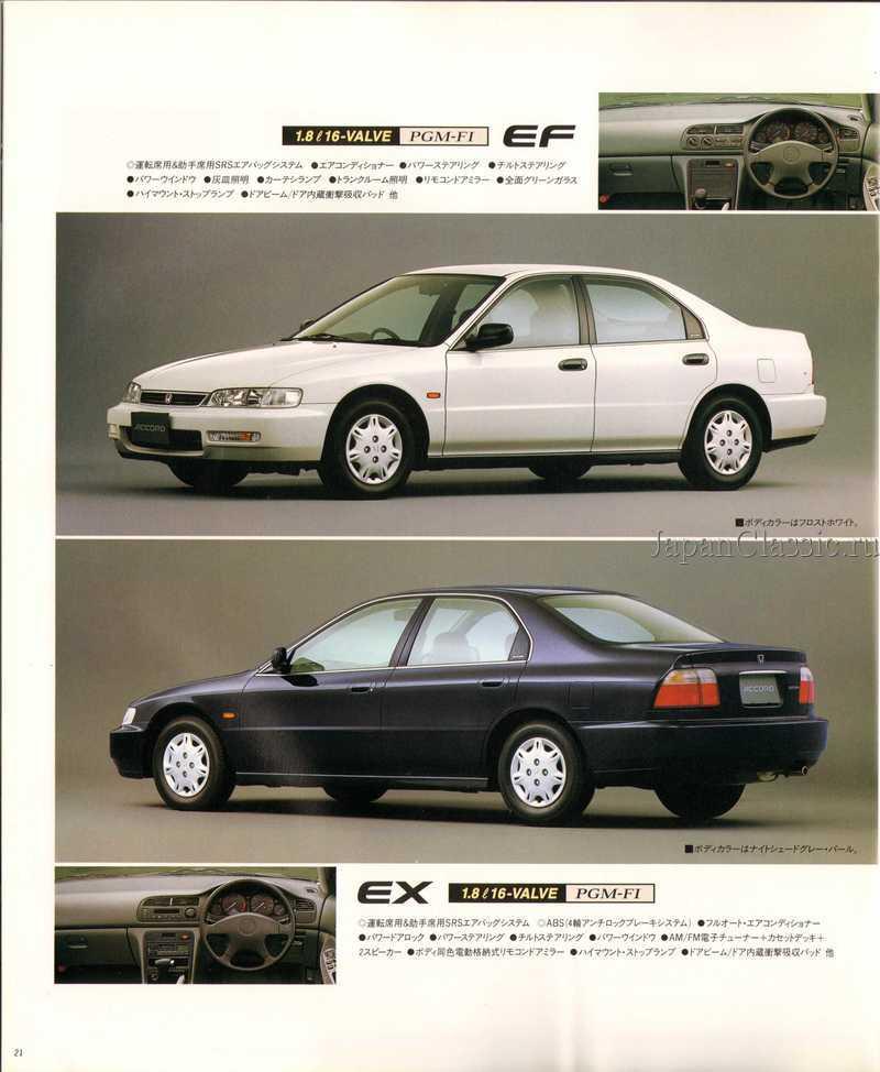 Nissan Code Honda Accord 1995 Sedan Cd Japanclassic