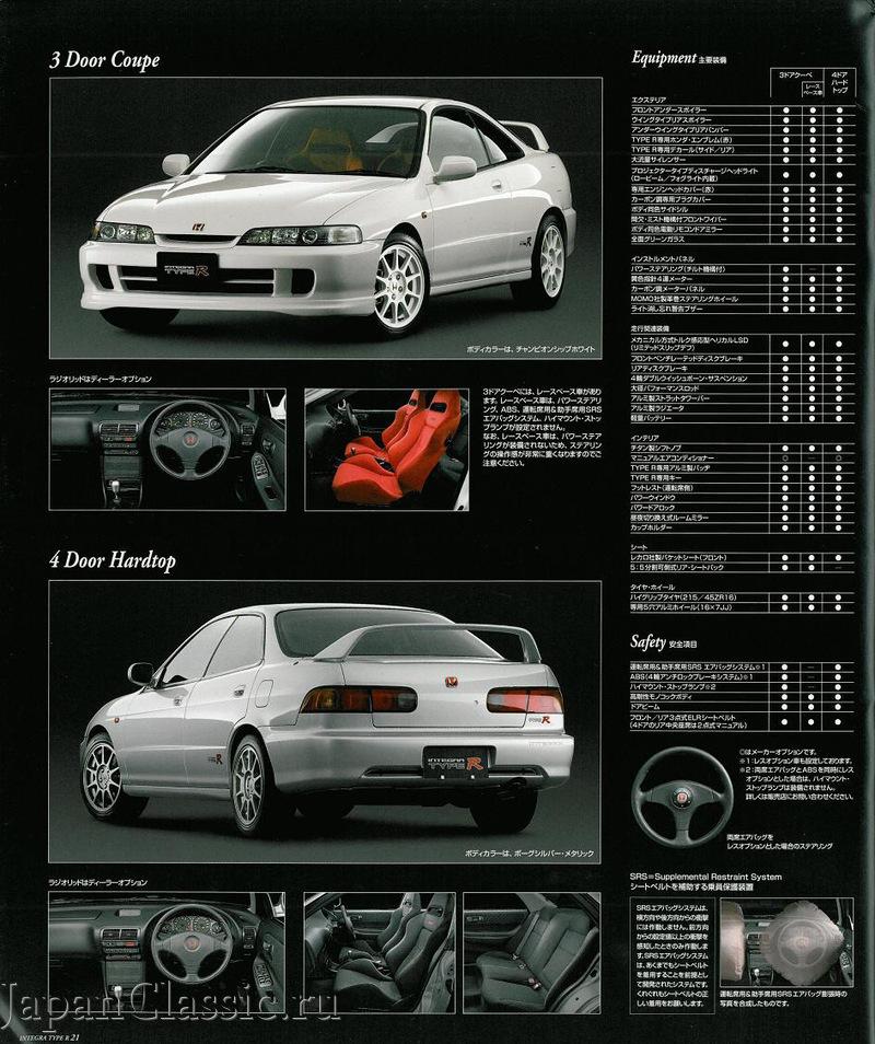 Honda Integra 1998 TYPE R 98 SPEC DB,DC - JapanClassic