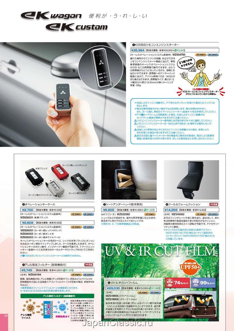 Mitsubishi Ek Wagon 2014 Accessories B11w Japanclassic